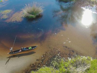 Im Mokoro unterwegs im Delta