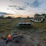 Abendessen in der Wildnis - Safarierlebnis Botswana