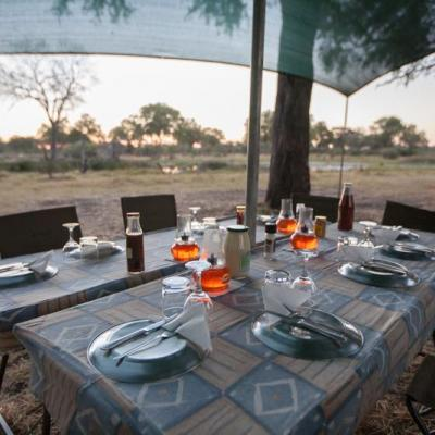 Botswana Safari - Dinner im Busch