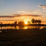 Botswana Safari - Sonnenuntergang im Okavango Delta