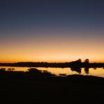 Sonnenuntergang an der Thamalakane Lodge