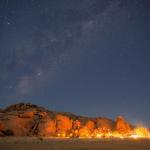 Nacht unter dem Sternenhimmel