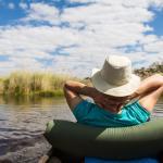 Safari in Botswana - Mokoro Fahrt im Okavango Delta