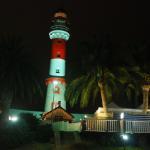 Swakopmund - Der alte Leuchtturm bei Nacht