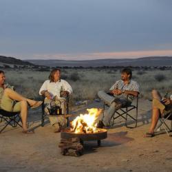 Abends am Campfire