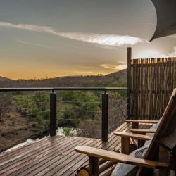 Die Aussicht von der Terrasse der Inzalo Lodge