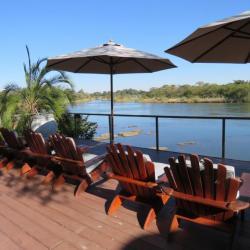 Aussicht auf den Okavango - Shametu Lodge