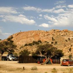 Desert Horse Inn Campsite in Aus, Namibia