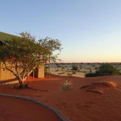 Dune Chalet Abendstimmung - Selbstfahrer Namibia Reise