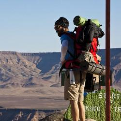 Wandern am Fish River Canyon in Namibia