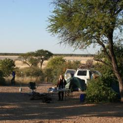 Moreswe Campsite No. 2 im Khutse Game Reserve in Botswana