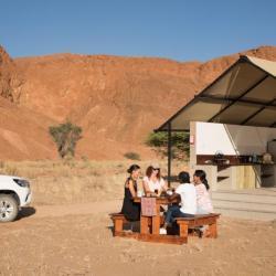 Festes Zelt an der Namib Desert Lodge