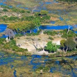 Das Okavango Delta aus der Luft