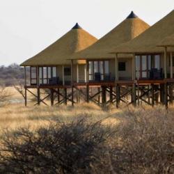 Das Onkoshi Camp am Rand der Etosha Pan