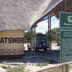 Matswere Gate - Eingangstor zur Kalahari