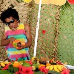Tropische Früchte - Marktstand auf den Seychellen