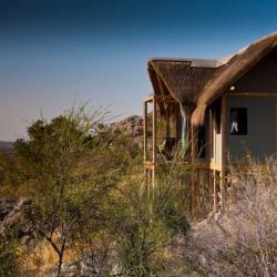 Unterkunft im Dolomite Camp in Namibia