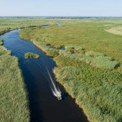 Transfer per Boot zur Xaro Lodge, Botswana