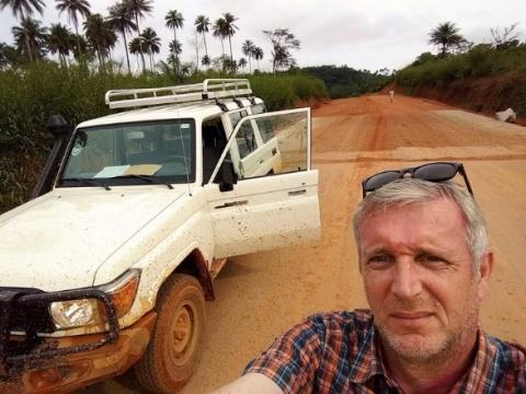 Der Autor unterwegs in Afrika
