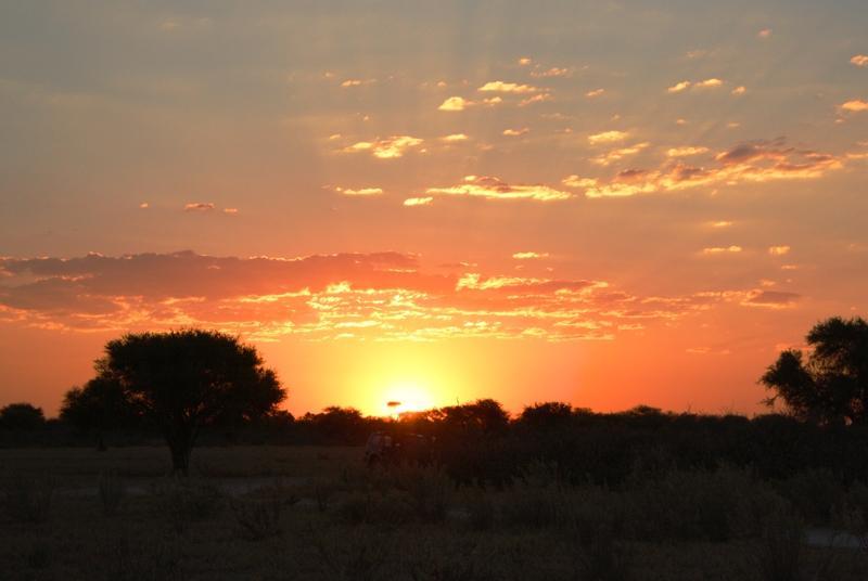 Kalahari Sonnenuntergang