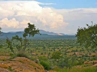 Die Auas Berge in Namibia